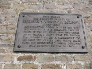 Plaque to bridge builder and the bridge