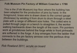 Information about painting and pin manufacture