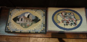 More cushions, just a selection of many including ones like these reflecting the parish and made by locals