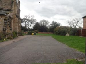 Chaddesden Church showing paving on left