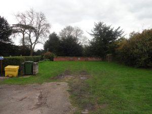 Chaddesden Churchyard location of Schoolmaster's house
