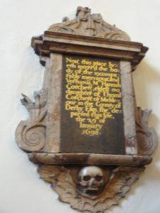 Memorial from 1698
