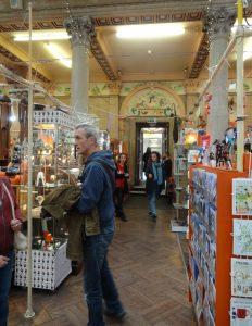 Inside a St Nicholas market building