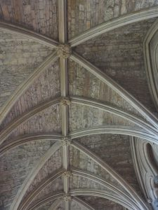 Stonework in part of ceiling