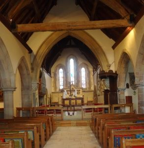 Inside Church of St James the Great at Colwall