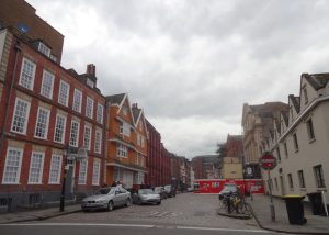 King St Building on the right is the almshouses