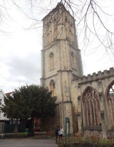 Leaning tower of Temple Church