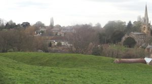 View from hill where castle had been built